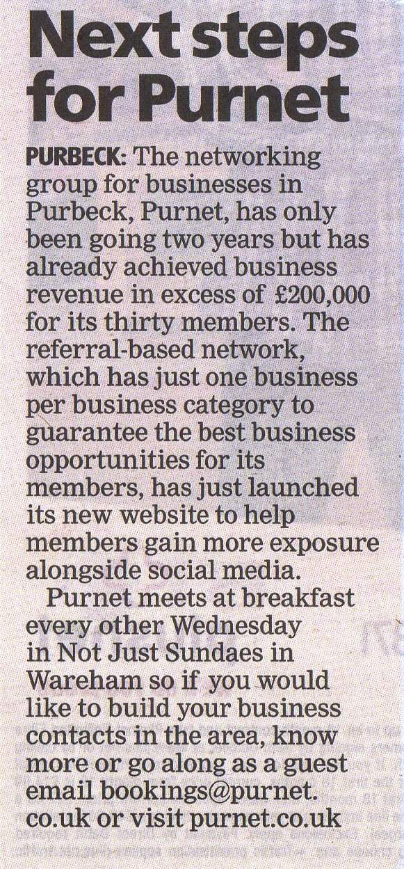 Purnet Dorset Echo 200K article