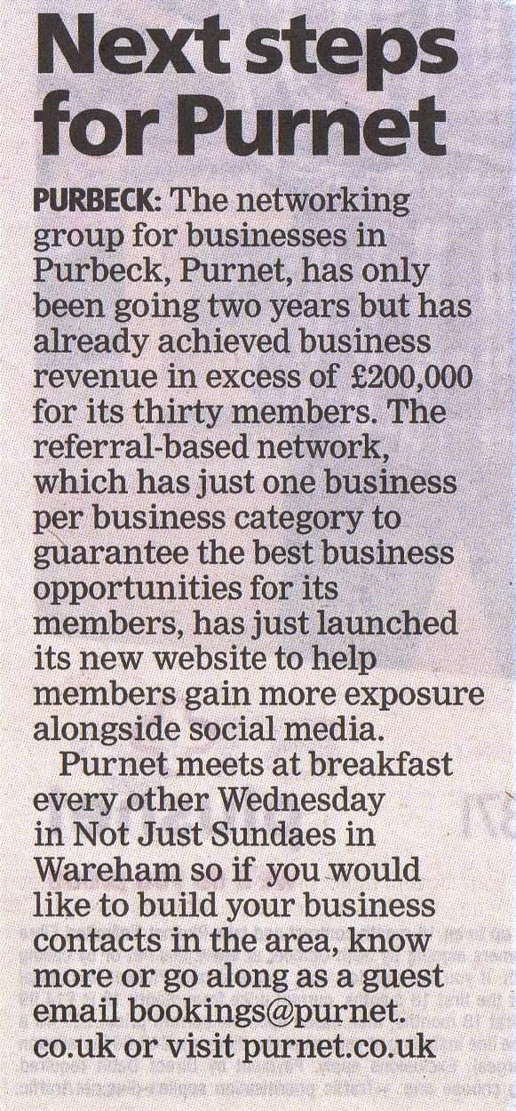 Purnet Dorset Echo 200K article